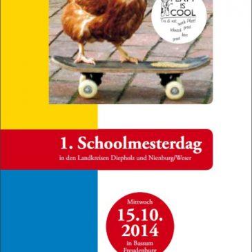 Flyer & Programm des ersten plattdüütschen Schoolmesterdages