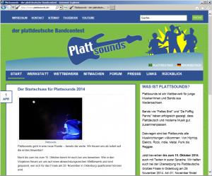Webseite www.plattsounds.de