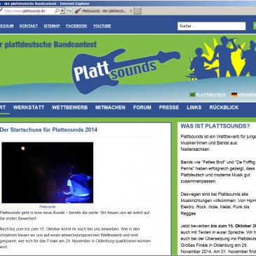 Plattsounds – Bis zum 15. Oktober 2014 beim plattdeutschen Bandcontest bewerben