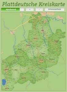 Plattdeutsche Kreiskarte Landkreis Diepholz
