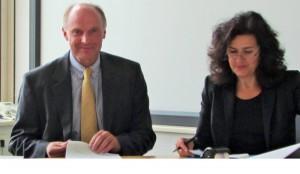 Unterzeichnung der Zielvereinbarung am 22.09.2014 - Werner von Behr und Ministerin Dr. Gabriele Heinen-Kljajic